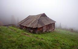 Одна кабина в древесинах Стоковая Фотография