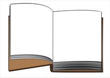 Одна книга изолированная на белизне Стоковое фото RF