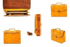 Одна кожа портфеля Стоковое Фото