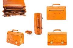 Одна кожа портфеля Стоковая Фотография
