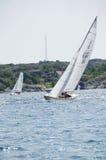 Одна конкуренция ветрила на шведском westcoast Стоковое фото RF