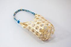 Одна малая деталь плетеной корзины handmade Стоковые Изображения