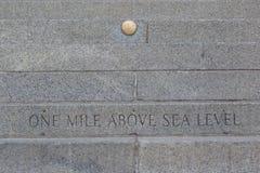Одна миля выше уровень моря стоковые фото