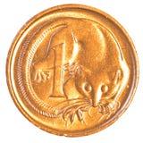 Одна монетка австралийского цента Стоковые Фотографии RF