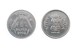 Одна монетка индийской рупии стоковое изображение rf