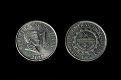 Одна монетка песо Стоковая Фотография