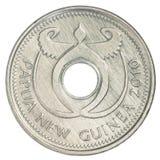 Одна монетка Kina Папуа новая гвинейская Стоковые Изображения