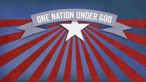 Одна нация под богом, цветовая схема США американская иллюстрация штока
