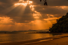 Одна неделя на пляже Surin, Пхукет-Таиланд Стоковое Изображение RF