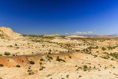 Одна дорога Миллион-доллара от Больдэра к Escalante, США Стоковое Изображение