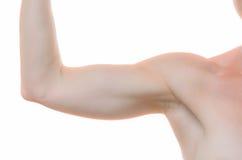 Одна плечо и рука женщины чуть-чуть согнули на локте Стоковые Фото