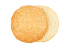 Одна плюшка гамбургера Стоковые Изображения RF