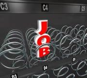 Одна работа выведенная в торговый автомат рынка труда иллюстрация штока