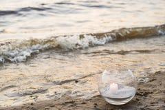 Одна свеча на море Стоковое Изображение RF