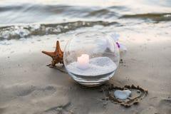 Одна свеча на море Стоковые Фото
