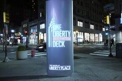 Одна смотровая площадка свободы в Филадельфии - ФИЛАДЕЛЬФИИ - ПЕНСИЛЬВАНИИ - 7-ое апреля 2017 стоковое фото rf