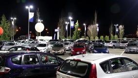 Одна сторона автосалона Hyundai сток-видео