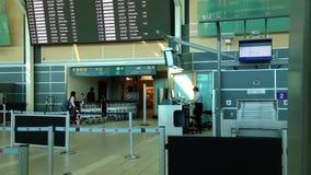 Одна сторона крупного аэропорта сток-видео