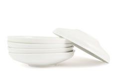 Одна тарелка плиты над другим стогом Стоковое Изображение RF