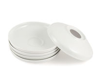 Одна тарелка плиты над другим стогом Стоковое Фото