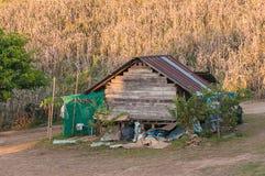 Одна хата на холме Стоковая Фотография RF