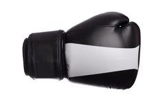 Одна черная и красная перчатка бокса на белой предпосылке Стоковая Фотография