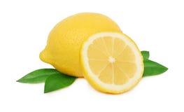 Одно все и половина зрелого лимона Стоковые Изображения