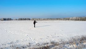 одно в поле Стоковая Фотография