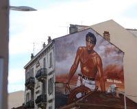 Одно из многочисленного частей картины искусства на фасаде o Стоковые Фото