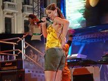 Одно из первых появлений Rihanna Стоковое Изображение