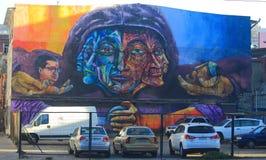 Одно из самых лучших граффити на улице в Вальпараисо, Стоковая Фотография RF