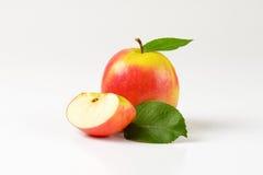 Одно и квартальные яблоки Стоковые Фотографии RF