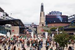 Одно направление дует МАМ Foxboro стадиона Gillette стоковые фото