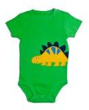 Одно обмундирование Onesie младенца части зеленое Стоковые Изображения