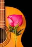 Одно подняло на старую гитару Стоковое Изображение RF