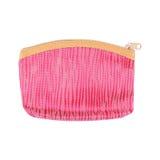 одно розовые косметические сумка или портмоне при молния изолированная на белизне Стоковые Фотографии RF