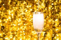 Одно стекло шампанского Стоковое Изображение