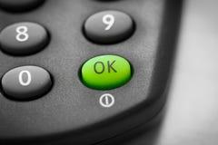 Одобренная кнопка Стоковая Фотография RF