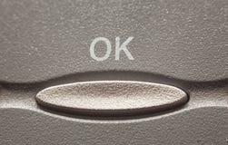 Одобренная кнопка Стоковая Фотография