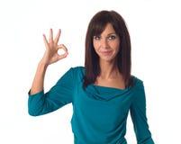 одобренная показывая женщина Стоковые Фотографии RF