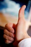 одобренный большой пец руки Стоковое Фото