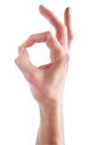 Одобренный знак - изображение запаса Стоковое Изображение