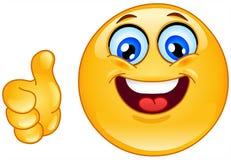 Одобренный emoticon Стоковая Фотография RF