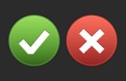 Одобрите и откажите кнопки Стоковые Изображения