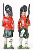Оловянные солдатики - винтажные предохранители ноги с винтовками стоковое фото