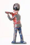 Оловянный солдатик - винтажный предохранитель ноги с винтовками стоковая фотография