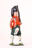 Оловянный солдатик - винтажный предохранитель ноги с винтовками стоковое изображение rf