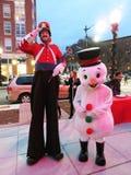Оловянный солдатик и снеговик Стоковая Фотография