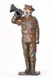 Оловянный солдатик - майор с съемкой frontal трубы Стоковая Фотография