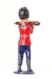 Оловянный солдатик с тромбоном - backview стоковая фотография rf